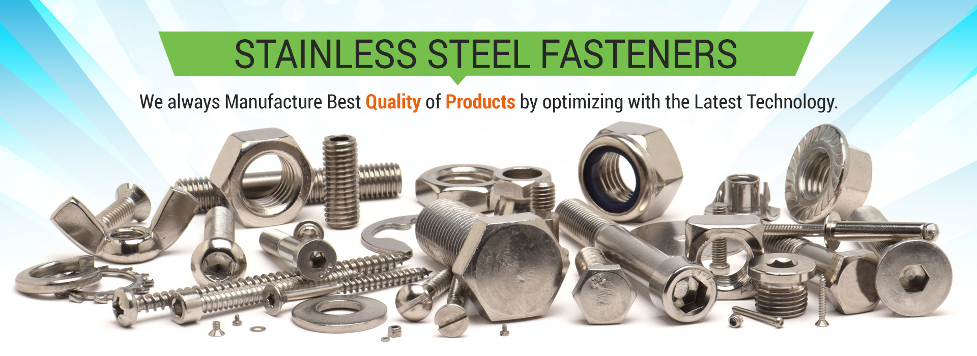 Manufacturer of Stainless Steel Fasteners